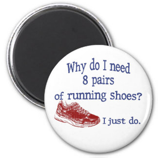 Eight Pairs Running Shoes 6 Cm Round Magnet