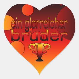 Ein Glorreicher Bruder Germany Flag Colors Heart Sticker