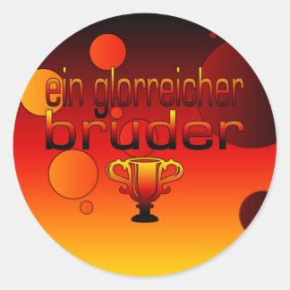 Ein Glorreicher Bruder Germany Flag Colors Round Sticker