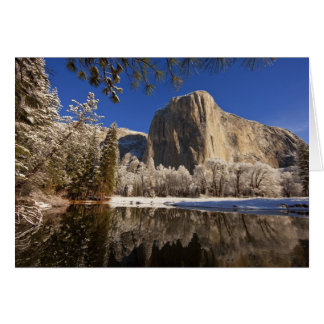 El Capitan reflects into the Merced River in Greeting Card