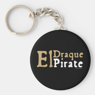 El Draque: Pirate Basic Round Button Key Ring