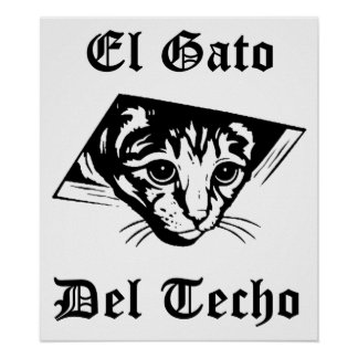 El Gato Del Techo Poster