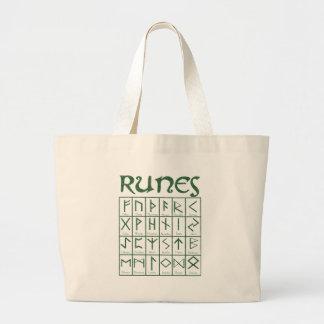 Elder Futhark Runes Jumbo Tote Bag