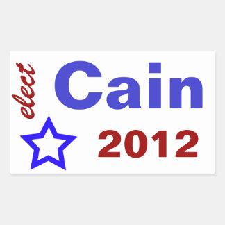Elect Cain 2012 Rectangular Sticker