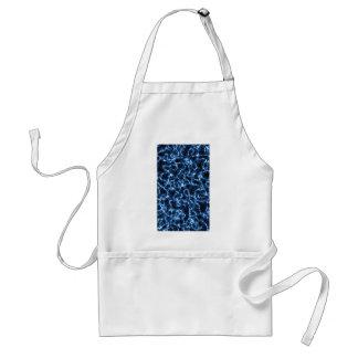 Electric Blue Light Design Pattern Texture Standard Apron