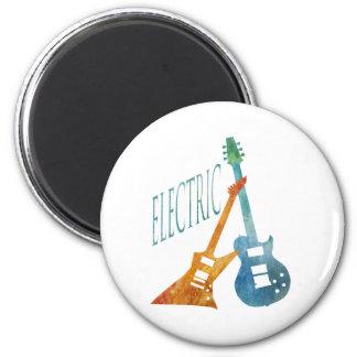Electric Guitars 6 Cm Round Magnet