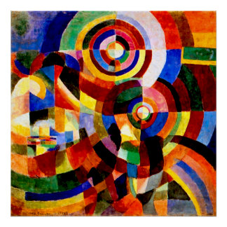 Electric Prisms by Sonia Delaunay Poster