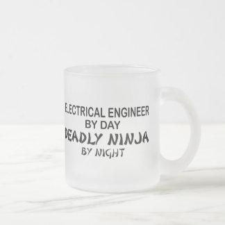 Electrical Engineer Deadly Ninja Frosted Glass Mug