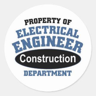 Electrical Engineer Round Sticker