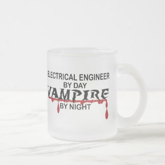 Electrical Engineer Vampire by Night Frosted Glass Mug