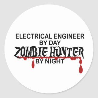Electrical Engineer Zombie Hunter Round Sticker