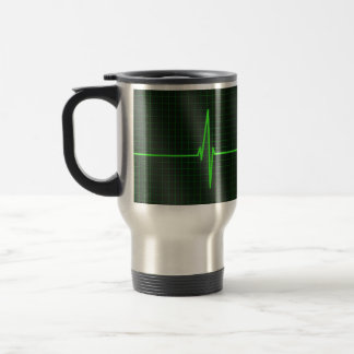 Electrocardiogram Waves Travel Mug