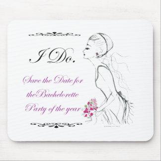 Elegance_bachelorette party mouse pad