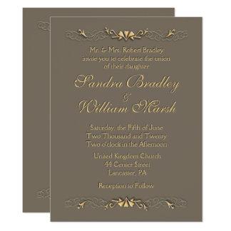 Elegance Wedding 17 Cm X 22 Cm Invitation Card