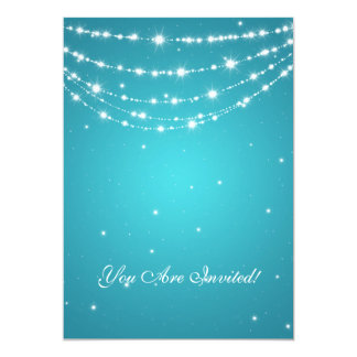 Elegant 60th Birthday Party Sparkling Chain Blue 13 Cm X 18 Cm Invitation Card