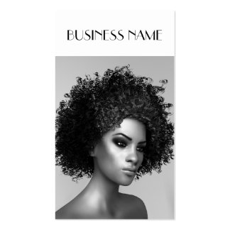 Elegant Afro Hair Pack Of Standard Business Cards