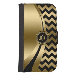 Elegant Black & Gold Modern Zigzag Chevron Pattern