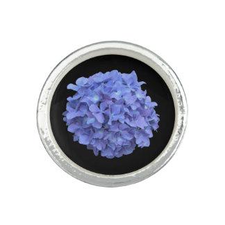 Elegant Blue Hydrangea Ring