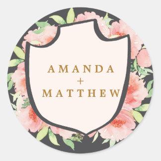ELEGANT CALLIGRAPHY WEDDING sticker seals