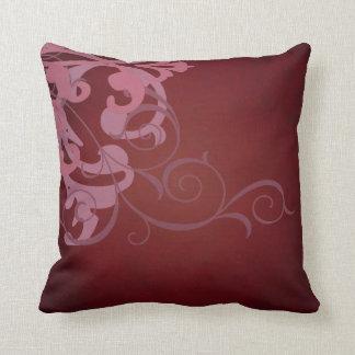 Elegant Chic Pink Scroll Red Mojo Pillow Throw Cushions