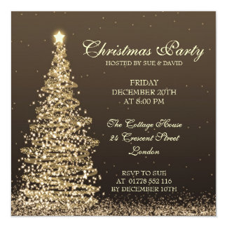 Elegant Christmas Party 13 Cm X 13 Cm Square Invitation Card