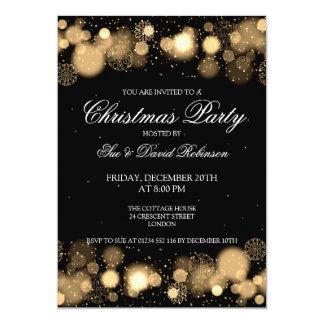 Elegant Christmas Party Winter Wonder Gold 13 Cm X 18 Cm Invitation Card