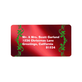 Elegant Christmas Return Address Labels