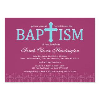 Elegant Cross Baptism Invitation