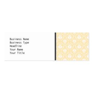 Elegant damask pattern. Light gold color. Pack Of Skinny Business Cards