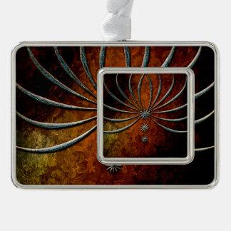 Elegant, decorative stars silver plated framed ornament