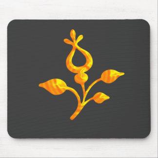 Elegant Golden Flower Mouse Pad