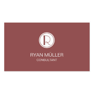 Elegant Marsala Professional Chic and Monogram Pack Of Standard Business Cards
