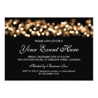 Elegant Party Invitation Gold Hollywood Glam