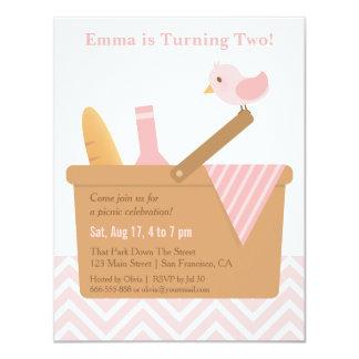 Elegant Picnic Girls Birthday Party Invitations