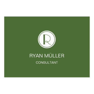 Elegant Professional Treetop and Monogram Pack Of Chubby Business Cards
