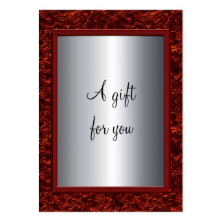Elegant Red & Silver Christmas Gift Certificate Gi Pack Of Chubby Business Cards