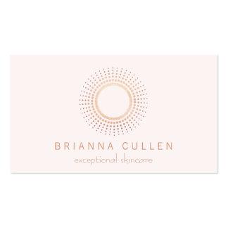 Elegant Rose Gold Circle Logo Light Pink Beauty Pack Of Standard Business Cards