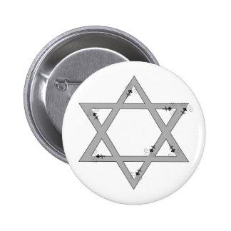 elegant star of david 6 cm round badge