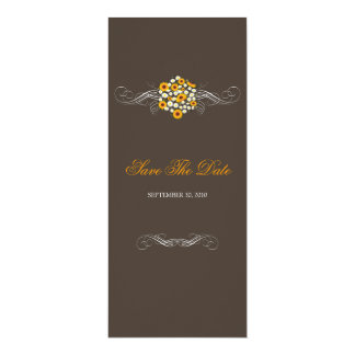 Elegant Sunflowers & Daisies Bouquet Save The Date 10 Cm X 24 Cm Invitation Card