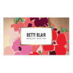 Elegant Vintage Painted Floral Designer Pack Of Standard Business Cards