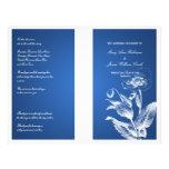 Elegant Wedding Program Poppy Blue 21.5 Cm X 28 Cm Flyer
