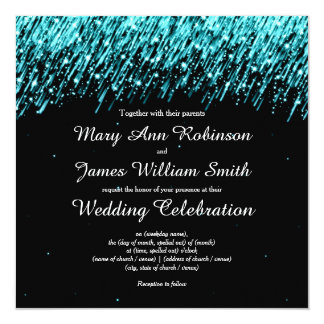Elegant Wedding Save The Date Stars Turquoise 13 Cm X 13 Cm Square Invitation Card