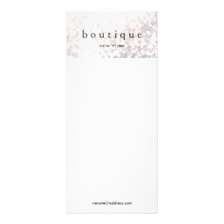 Elegant White Bokeh Glitter Menu and Price List Rack Cards