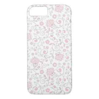 Elegant White Pink Floral Pattern iPhone 7 Case