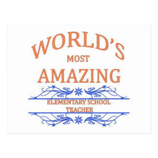 Elementary School Teacher Postcard