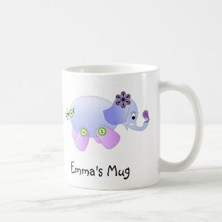 Elephant Blue Basic White Mug
