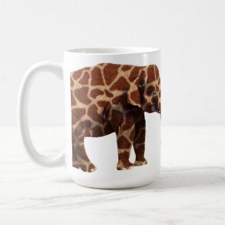 Elephant That Thinks Its a Giraffe Basic White Mug