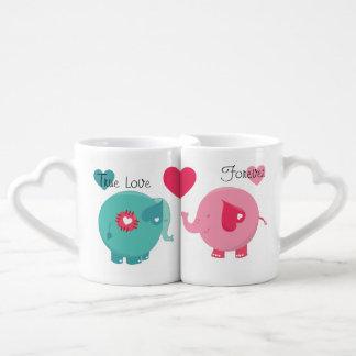 Elephants True Love Forever Lovers Mugs Lovers Mug