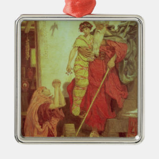 Elijah restoring the Widow's Son, 1868 Silver-Colored Square Decoration