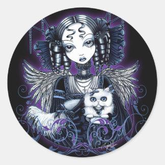 Elizabeth White Persian Cat Angel Stickers